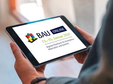 BAU ONLINE, 13.–15. Januar 2021